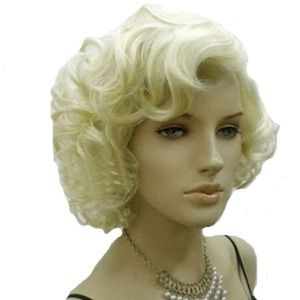 Other - Marilyn Style Short Curly Blonde Wig